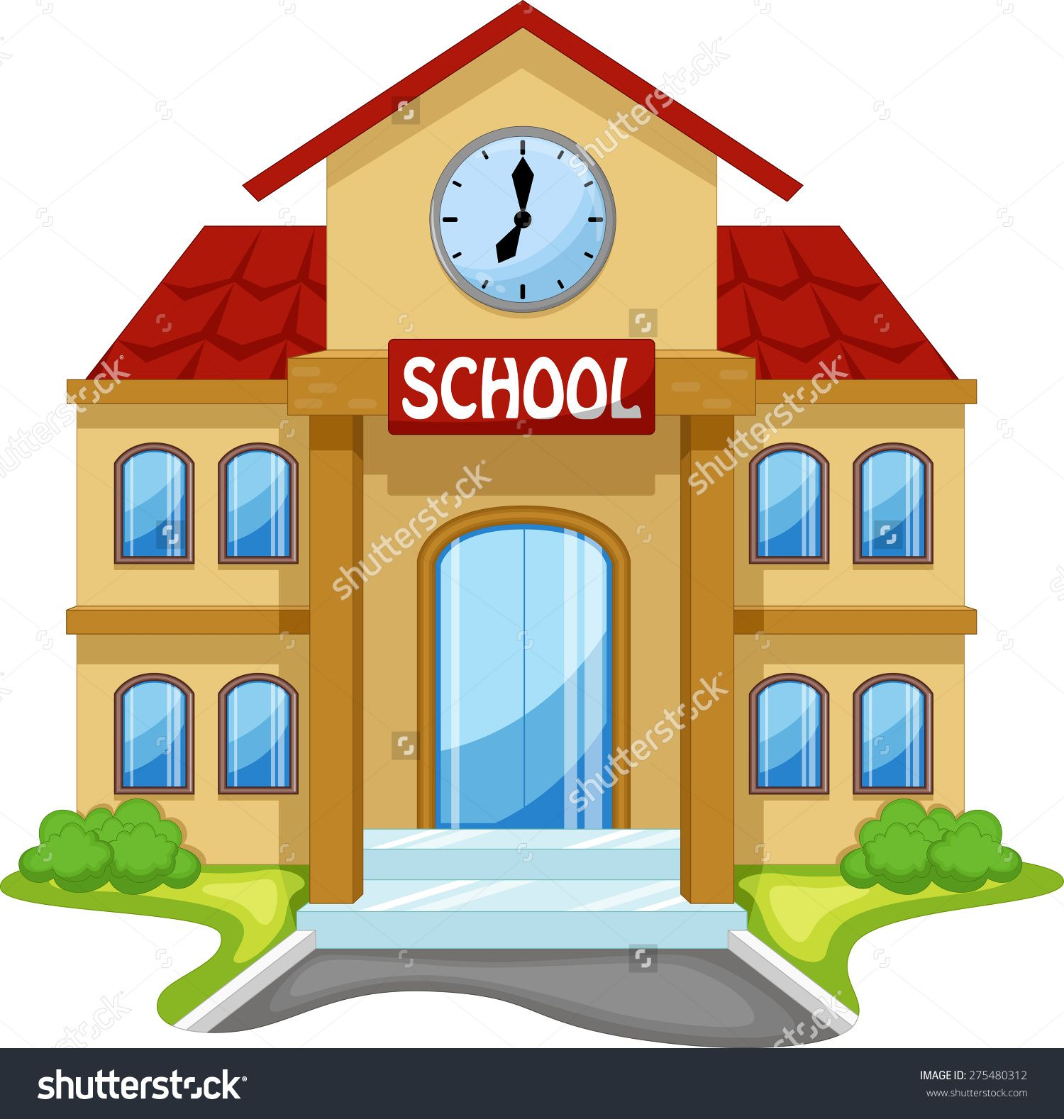 stock-vector-school-building-cartoon-275480312.jpg (1500 ...