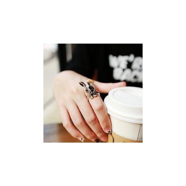 Rabbit Ring ($8.90) ❤ liked on Polyvore featuring jewelry, rings, accessories, rabbit jewelry, imitation jewellery, fake jewelry, artificial jewellery and rabbit ring