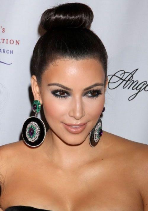 Updos Kim Kardashian Hairstyles Hairstyle Pinterest Kim
