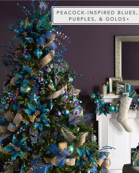 peacock inspired christmas tree My peacock-inspired dream