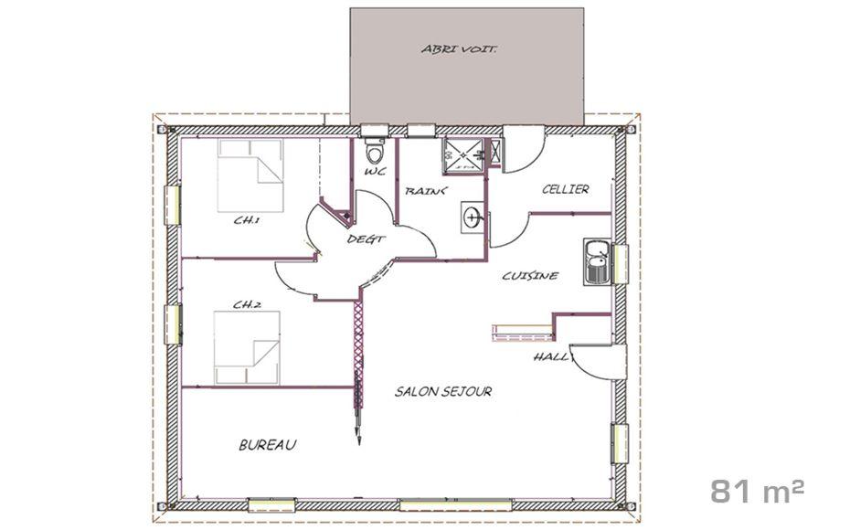 Plan De La Maison Etage  Sous Sol  Villas    Orphe
