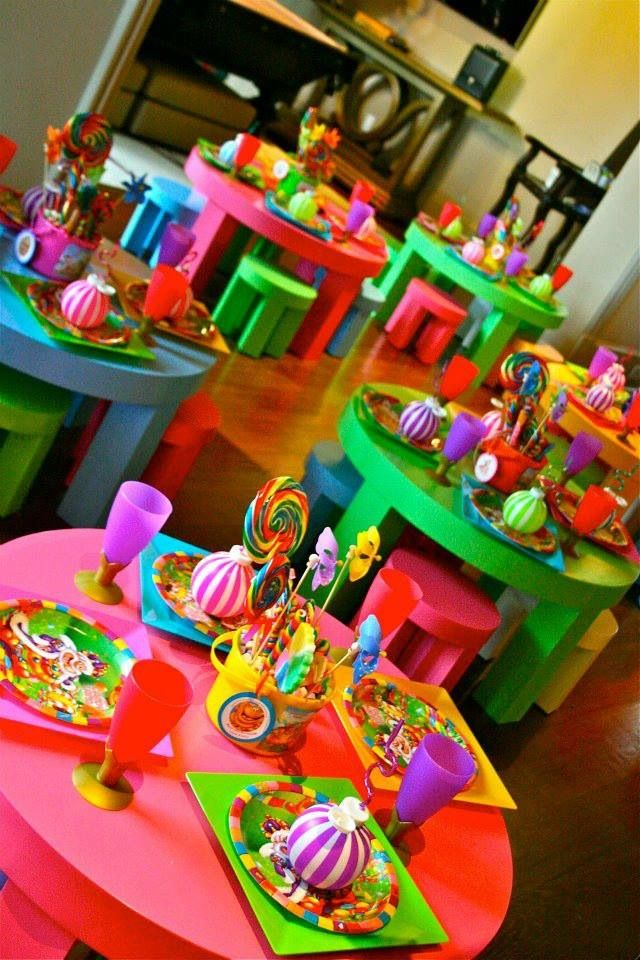 Kids. Party seating | Party decorations kids girls, Candy ...