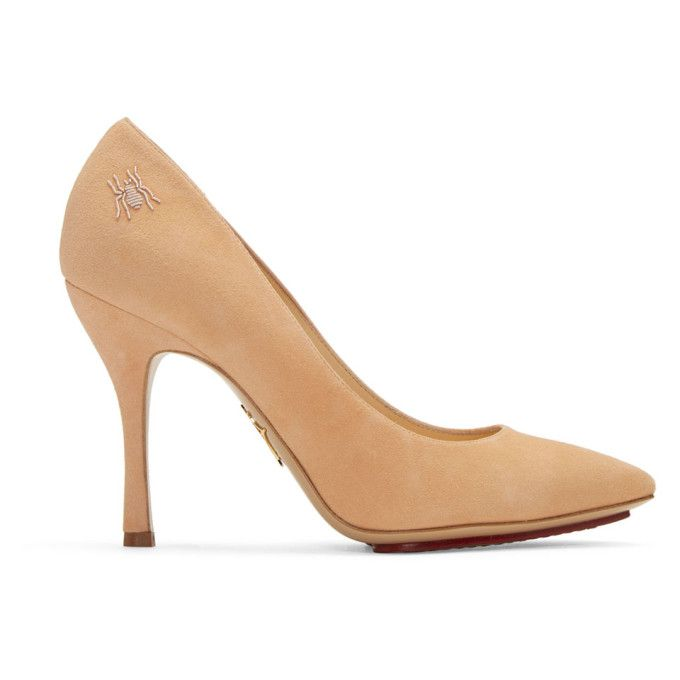 Charlotte Olympia Suede Bacall Heels Clearance Authentic 9xAsgIW