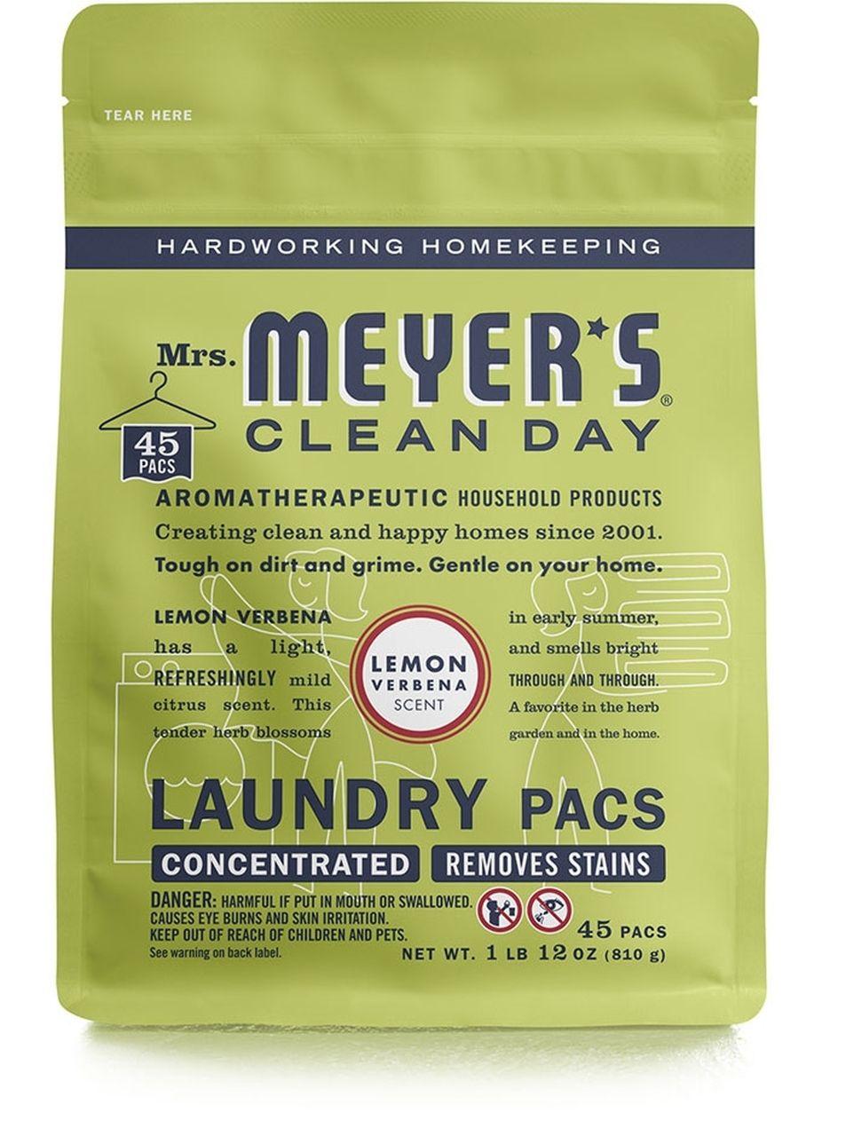 Mrs Meyer S Lemon Verbena Laundry Packs 45ct Lemon Verbena