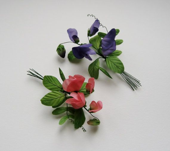 Hand painted sweet pea silk flowers corsage hand painted sweet pea silk flowers corsage mightylinksfo Gallery
