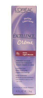 Loreal Excellence Creme Color 9 12 Extra Light Blonde 174 Oz 3pack With Free Nail File You Can Get More Details By Clicking Creme Color Gold Blonde Loreal