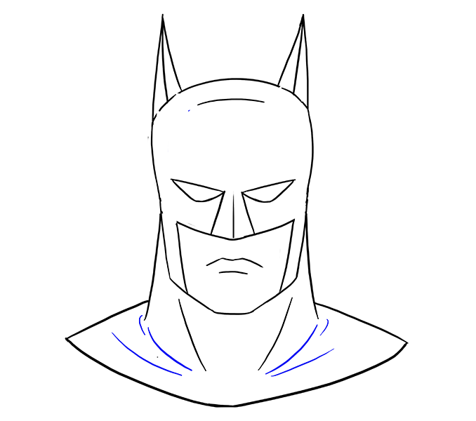 How To Draw Batman S Head Diy Batman Drawing Drawings Batman