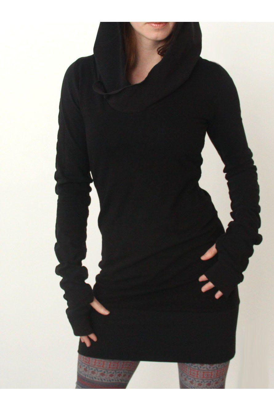Long Sleeve Solid Color Long Slim Hoodie Plain Dress Casual Mini Dress Casual Hooded Dress [ 1335 x 890 Pixel ]