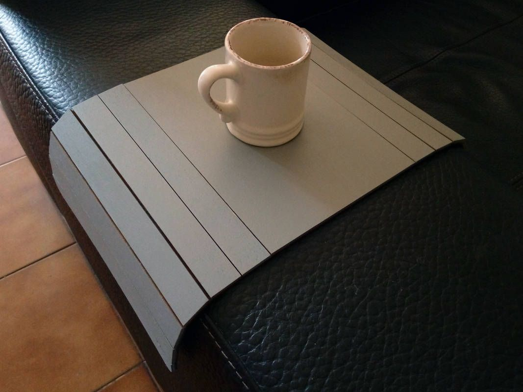 Now trending laser cut wood tray tablesofa tablearm rest table