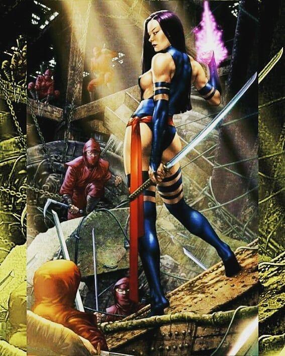 X-Men #12 Retailer Variant - Miguel Mercado   Psylocke