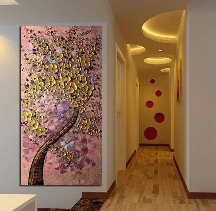 Resultado de imagen para arboles de la vida cuadros - Pintura pared purpurina ...