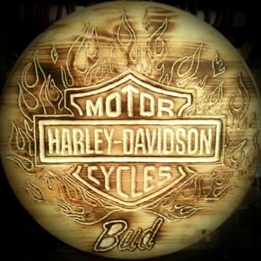 Excellent Personalized Wooden Wall Plaque Or Bar Stool Seat Harley Caraccident5 Cool Chair Designs And Ideas Caraccident5Info