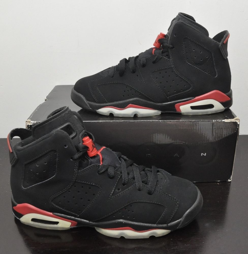 super popular 3f544 fe7ba Nike Air Jordan VI 6 Retro Bred Black Varsity Red 384665-061 Sz 7Y GS Worn  Once  Nike  BasketballShoes