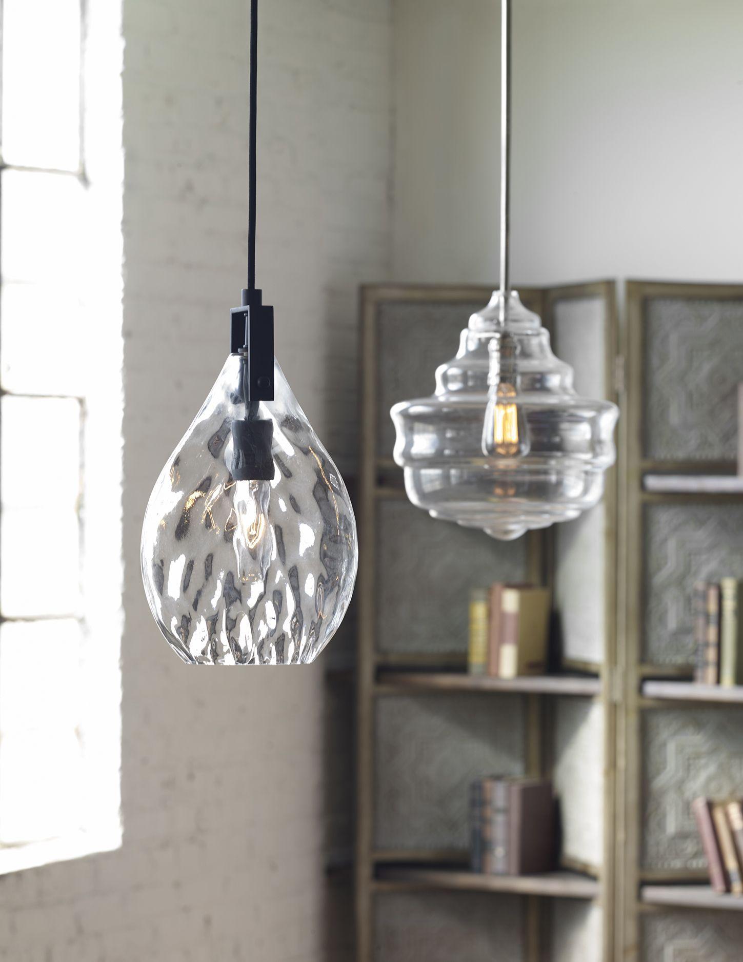 uttermost lighting pendant uttermost campester clear watered glass mini pendant illuminated