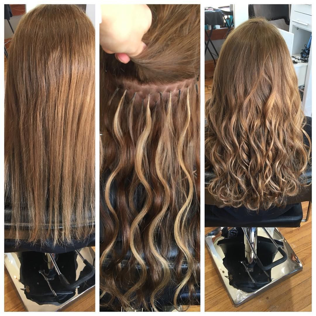 House Of Lux Salon Lux On Instagram Before During And After Extensions Hair Extensions Style Wavyhair I Tip Hair Extensions Long Hair Extensions Hair
