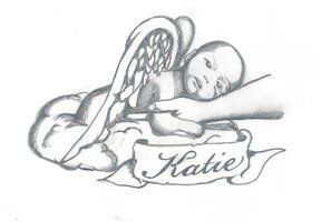 Katie Banner And Baby Angel Tattoo Design Tatuajes Baby Angel