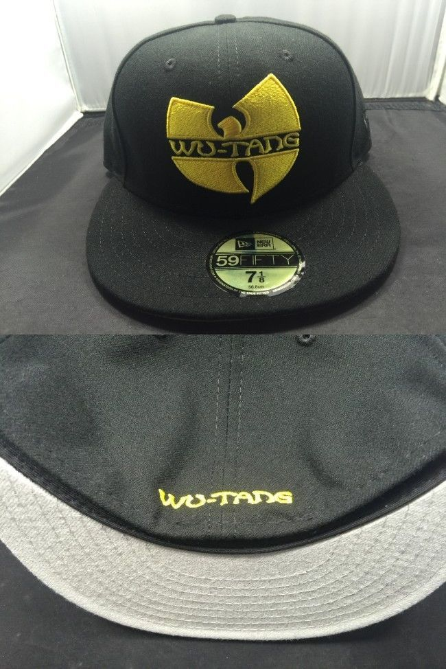 df3a5ccaa81 Hats 52365  New Era Wutang 5950 Black Yellow 7 Fitted Cap Hat New 7 -  BUY  IT NOW ONLY   69.99 on eBay!