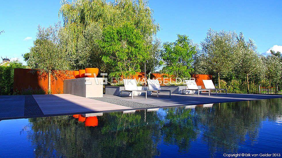 Teo van horssen tuinontwerp zwembad zonneterras stijltuinen exclusieve tuin wellnes zwembad - Outdoor decoratie zwembad ...
