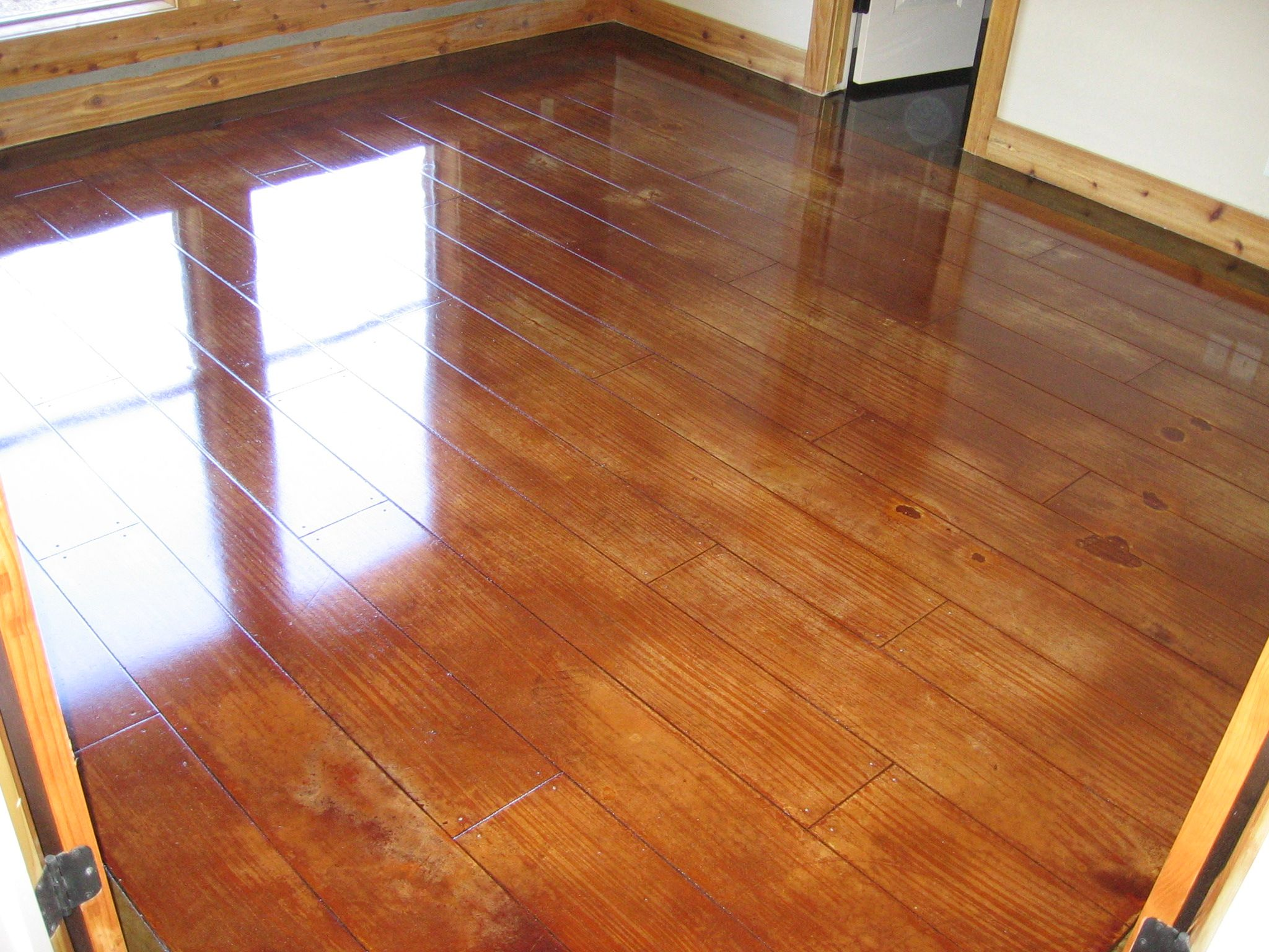 Stained Concrete And Scored Concrete Concrete Stained Floors