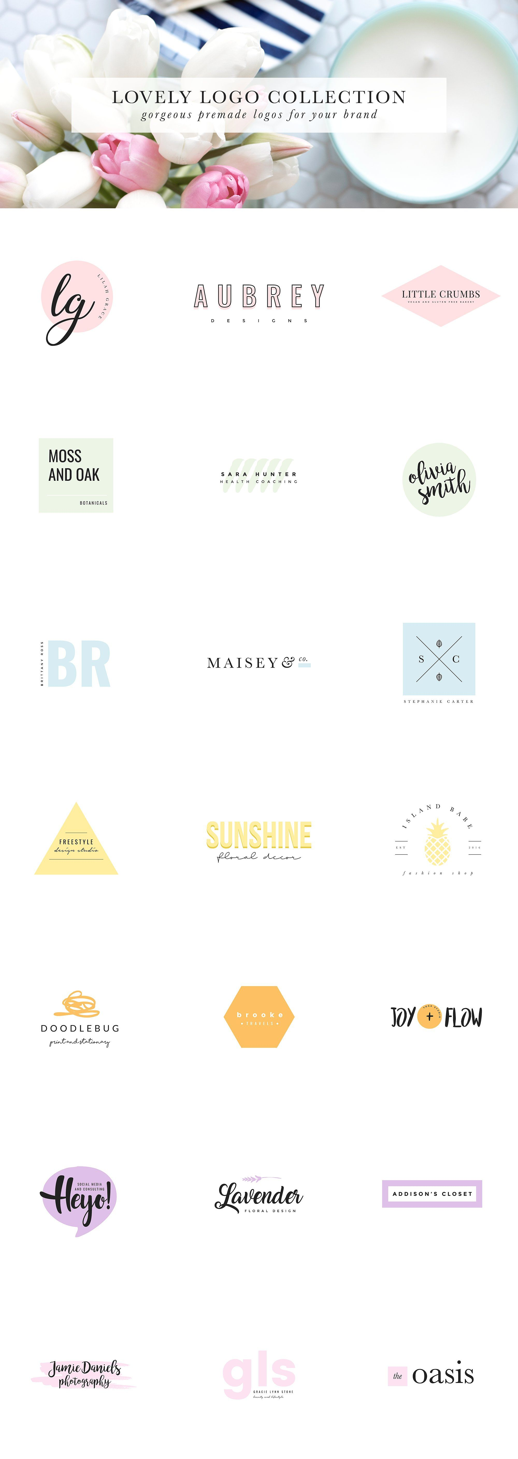 Feminine Logo Collection This Collection Includes 21 High Res