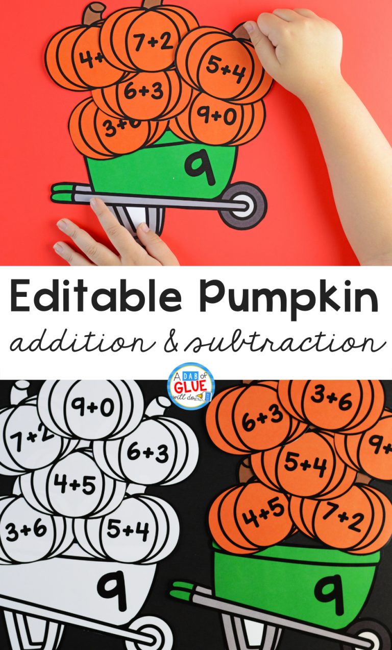 Pumpkin Editable Addition And Subtraction Activity Halloween Math Activities Pumpkin Math Activities Fall Math Activities [ 1272 x 768 Pixel ]