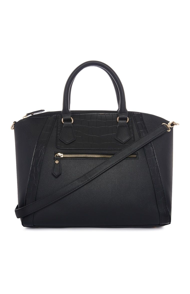 Primark - Black Zip detail Winged Tote Bag | Products that I love ...