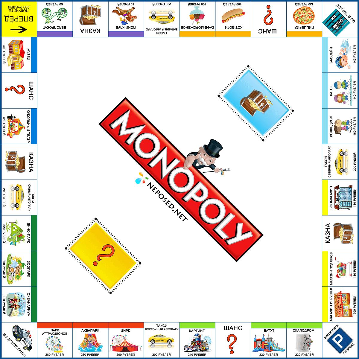 Игра монополия своими руками распечатать фото 488