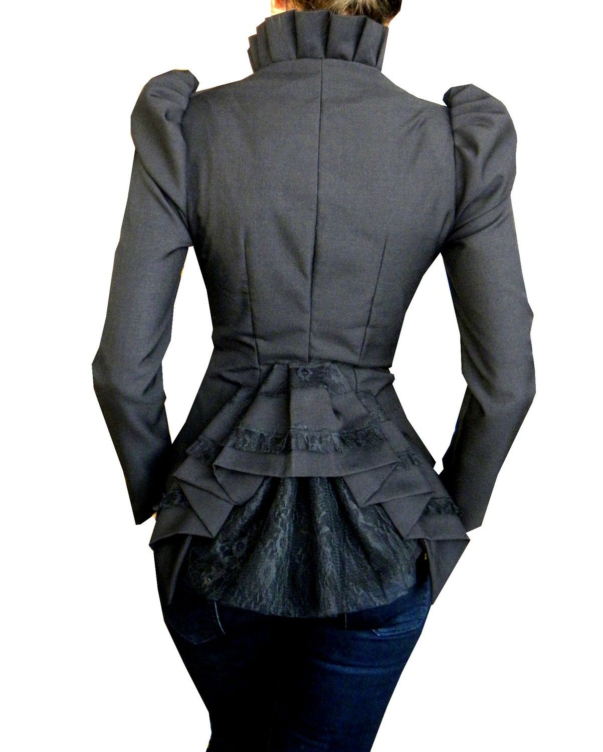 celia jacket. $199.90, via Etsy. Love the peplum back! if only the