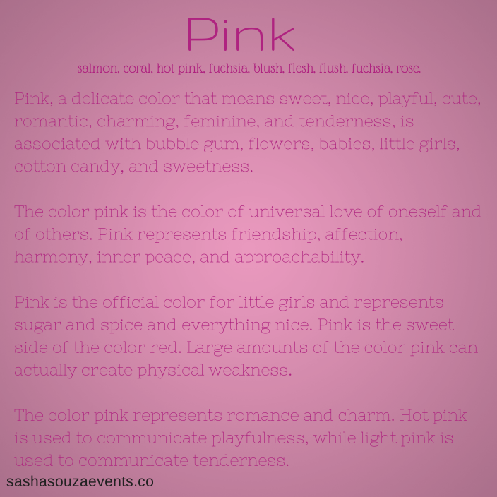 Http Www Sashasouzaevents Co Color Symbolism Meanings