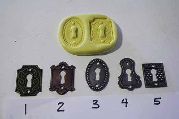 Lock plate mold for cake decorating chocolate by ACakeToRemember, $7.50