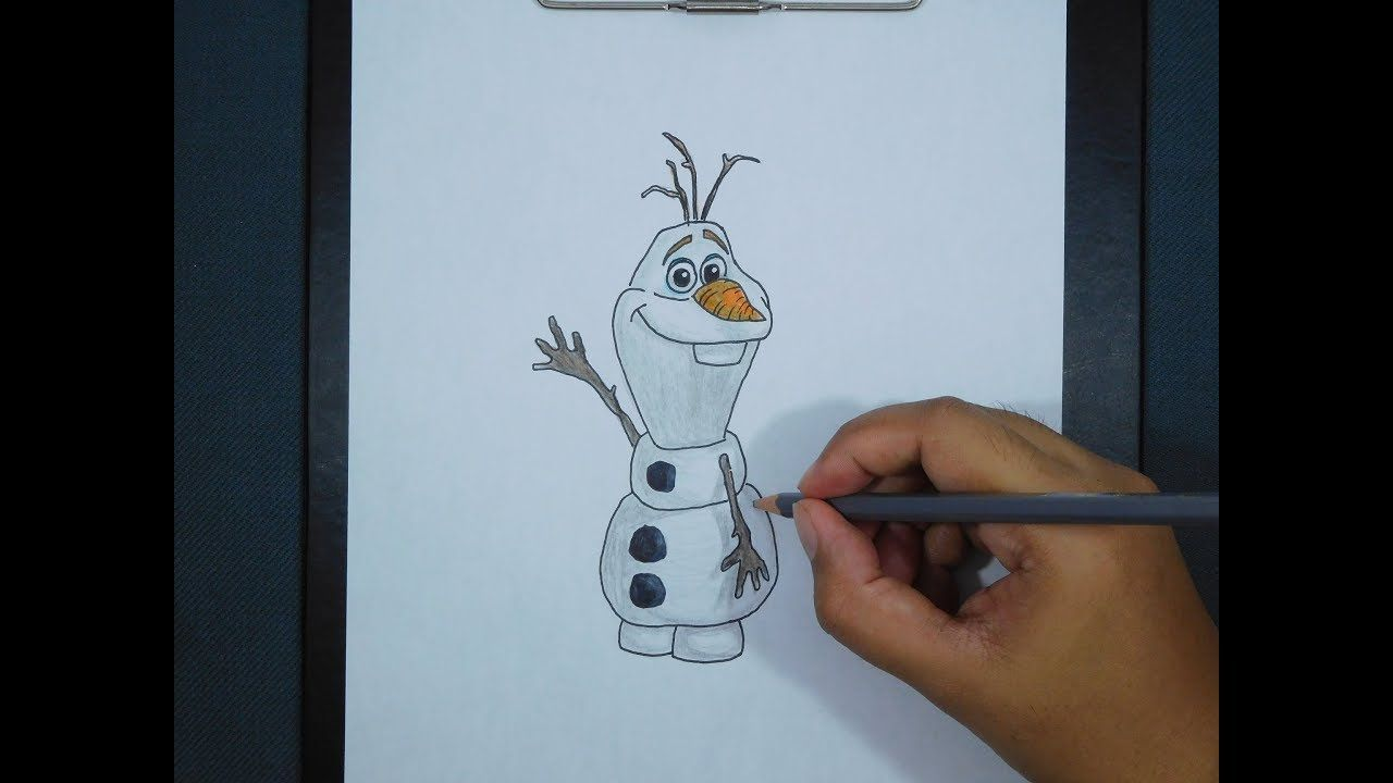 Frozen Coloring Pages Olaf And Sven : How to draw olaf frozen cara menggambar olaf frozen drawing