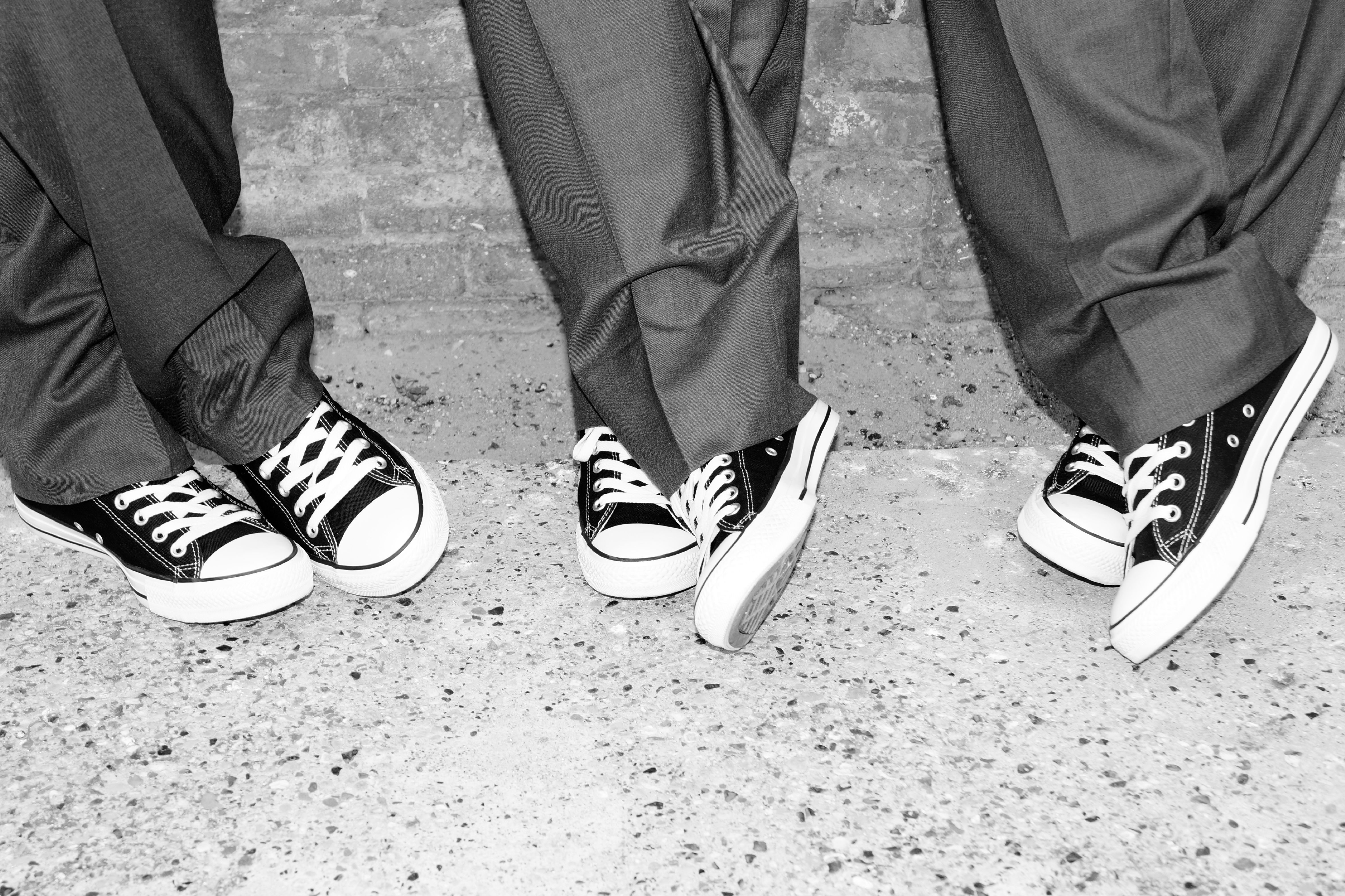 The groom dudes' Converse at The Cotton Mill.