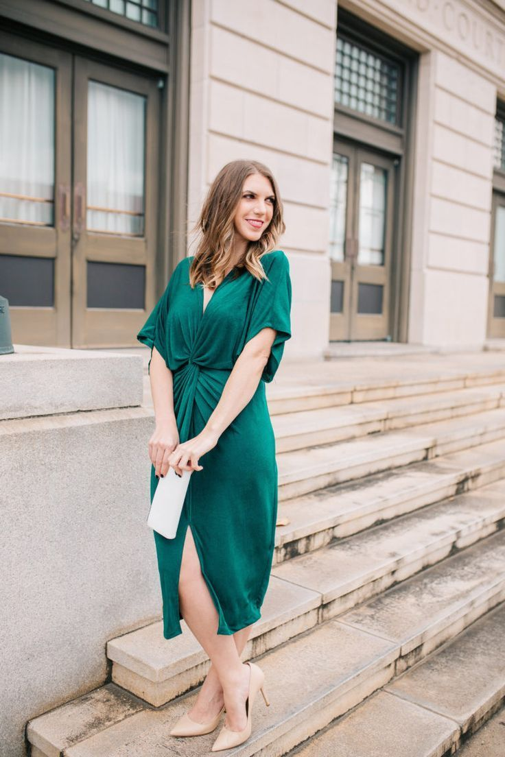 How to Style a Holiday Party Dress | Emerald dresses, Classy dress ...