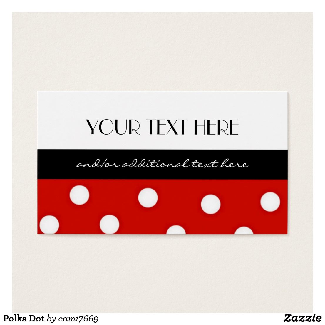 Polka Dot Business Card Zazzle Com Business Card Pattern Printing Double Sided Polka Dots