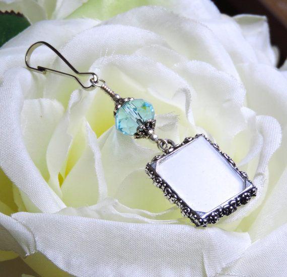 Wedding bouquet charm. Something blue - light blue by SmilingBlueDog