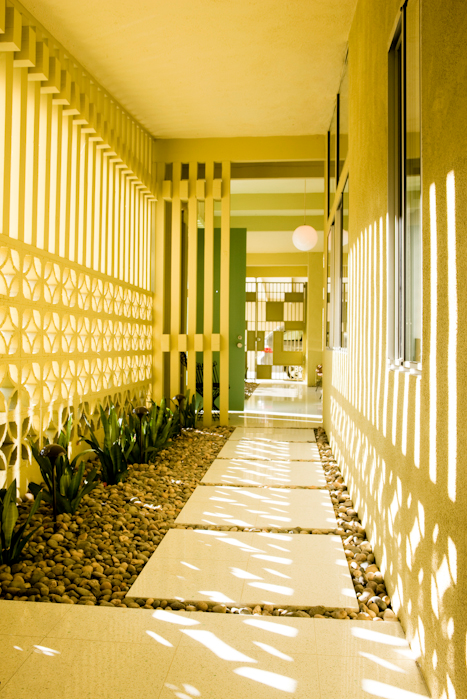 1962 Exterior Pale Yellow Brick Mcm Home