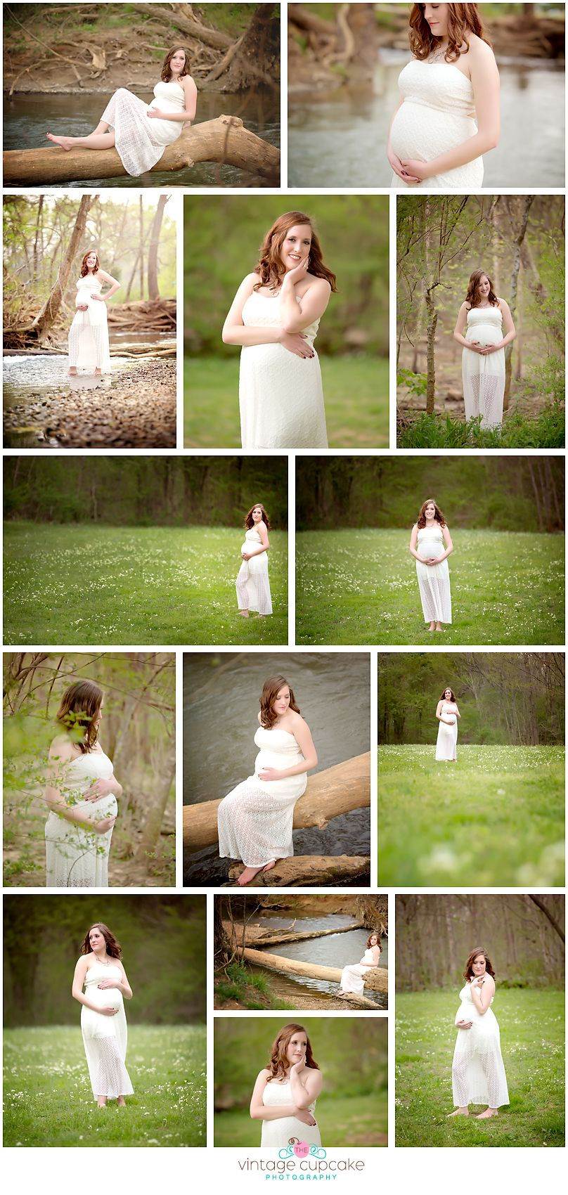 Outdoor Maternity session near stream Huntsville Alabama Maternity ...