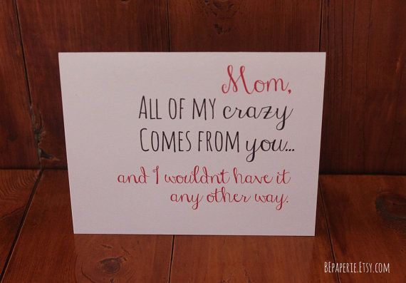 Mom Card Mom Birthday Card Funny Card By Bepaperie Mothersday