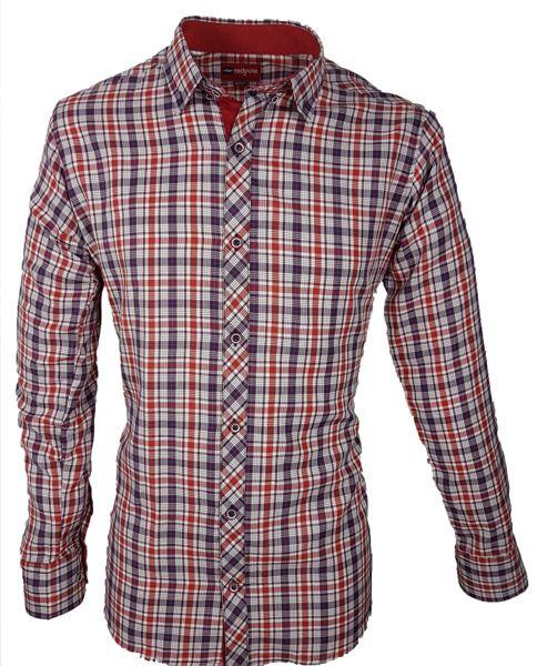 20de53b2b9 Koszula męska w kolorze czerwonym - - Koszule męskie - Awii