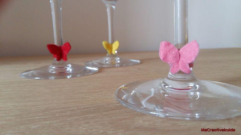 Farfalline segna bicchiere pannoleci tutorial diy ME creativeinside