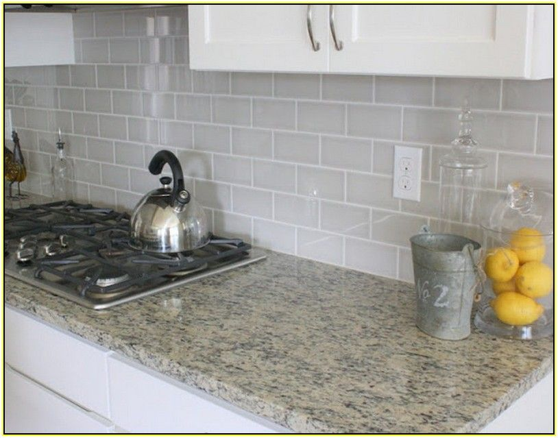 Grouting Kitchen Backsplash Enchanting Subway Tile Kitchen Backsplash Grey Grout  For The Home . Review