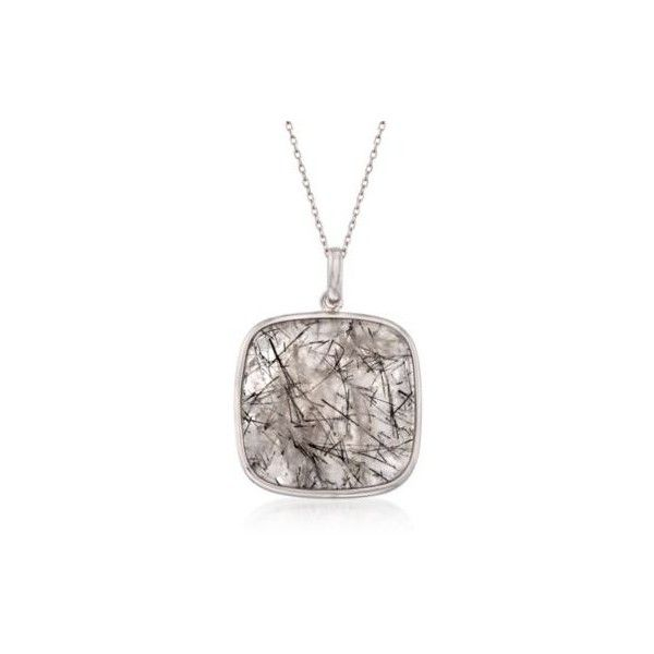 Ross simons 18mm tourmalinated quartz pendant necklace in silver 18 ross simons 18mm tourmalinated quartz pendant necklace in silver 18 aloadofball Image collections