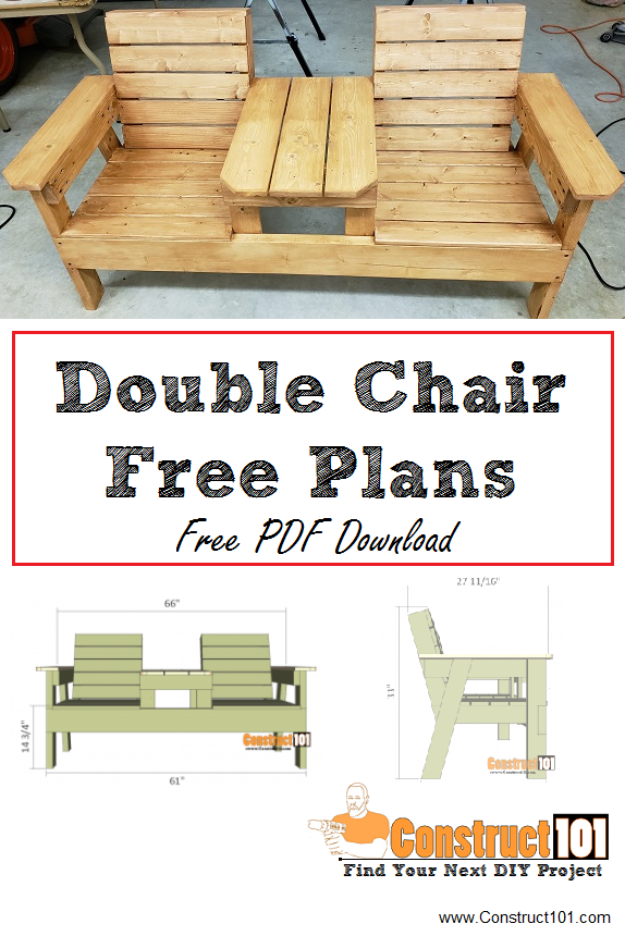 Double Chair Bench Plans StepByStep Plans