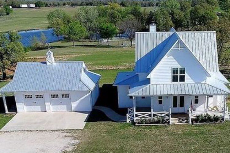 Our Farmhouse Drone View Of Pond And Home Gable House House Styles Old Farm Houses