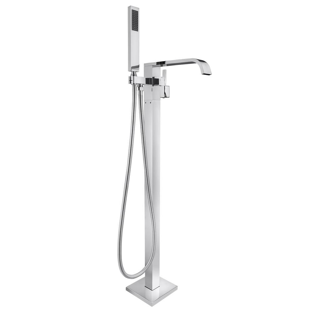Akdy 1 Handle Freestanding Floor Mount Roman Tub Faucet Bathtub