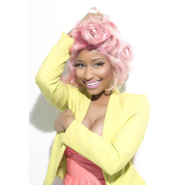 nicki minaj rocks bubblegum pink hair and candycolored