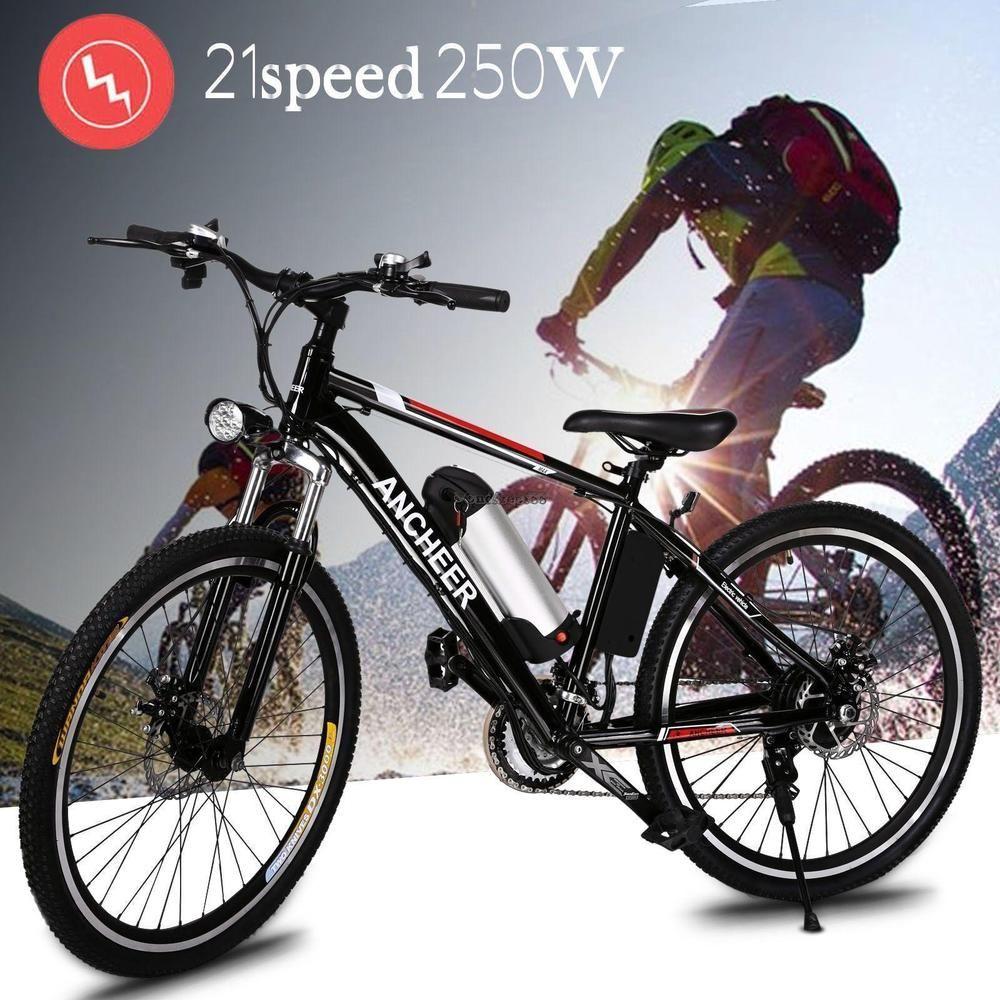 Radsport Ancheer 250W 26 Zoll Elektrofahrrad Mountainbike E-Bike 21 Gang Getriebe MTB TOP