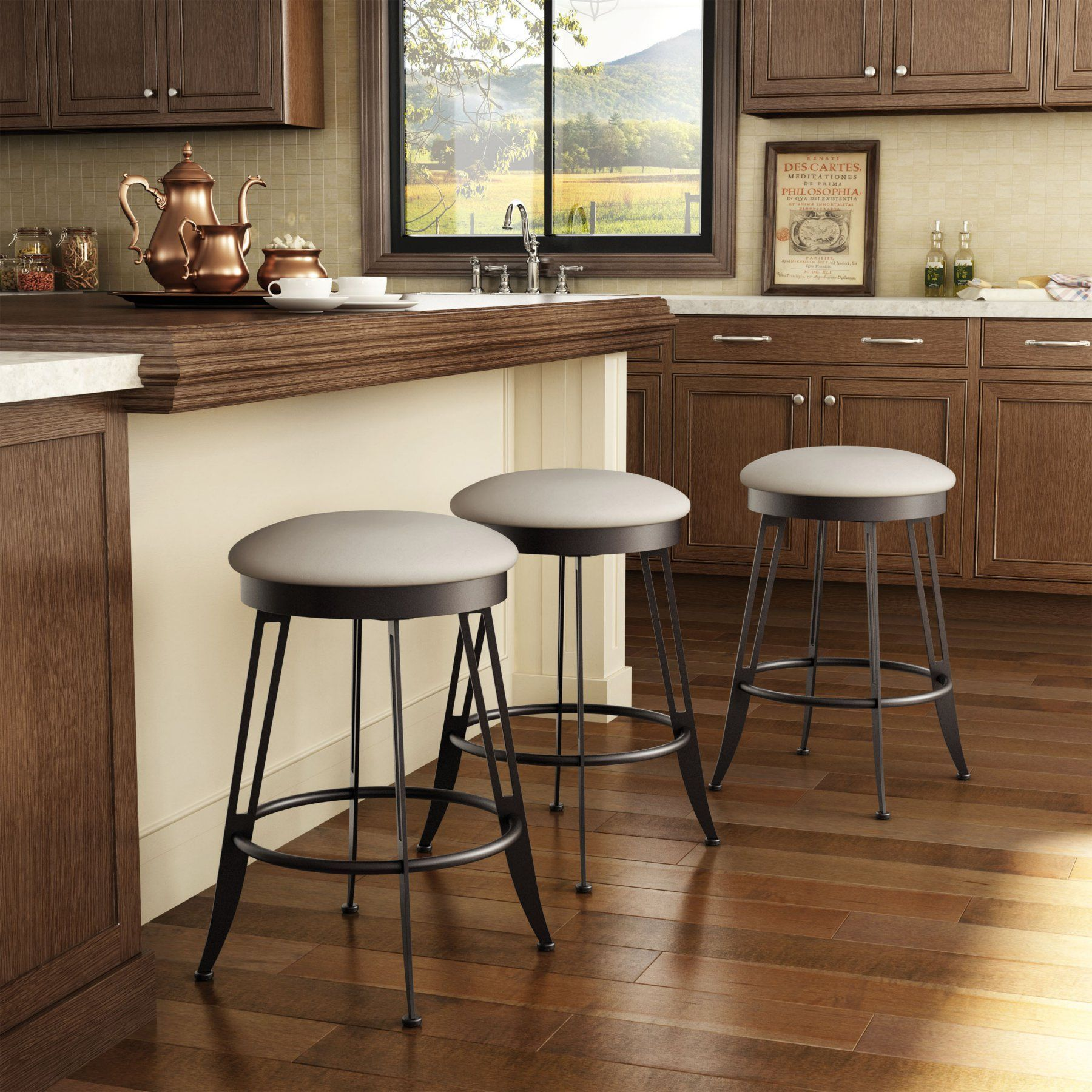 Amisco Phylo Backless Swivel Bar Stool 30 in. - 42402-30WE/1B2403F4