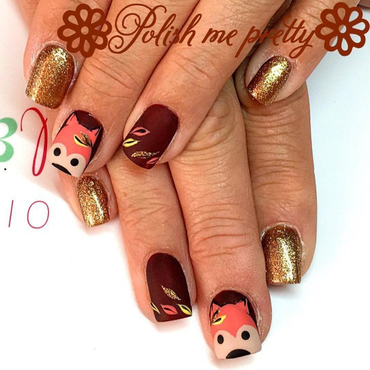 Top 33 Fox Nail Art Herbst 2018 | Fox nails and Foxes