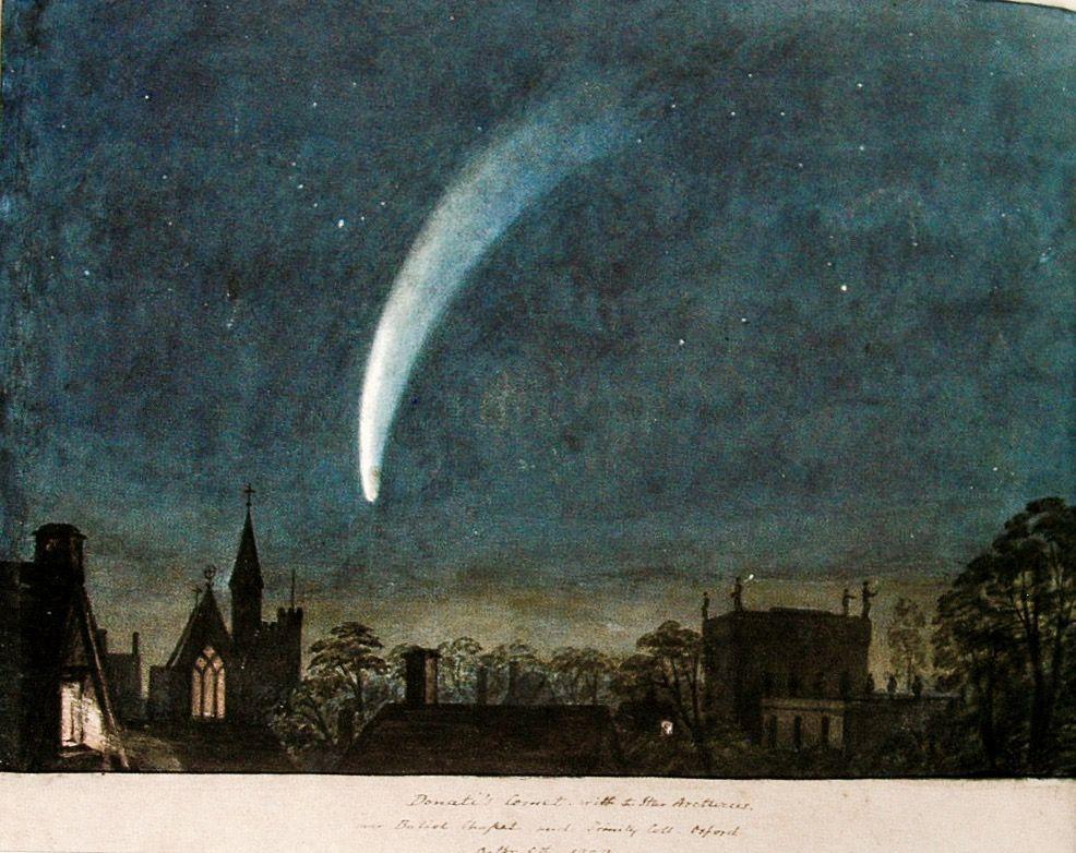 Donatis comet 1858 digital museum scenic art fine art